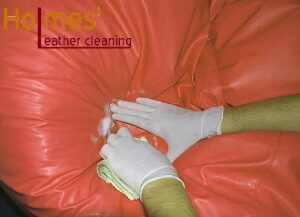Leather cushion cleaning